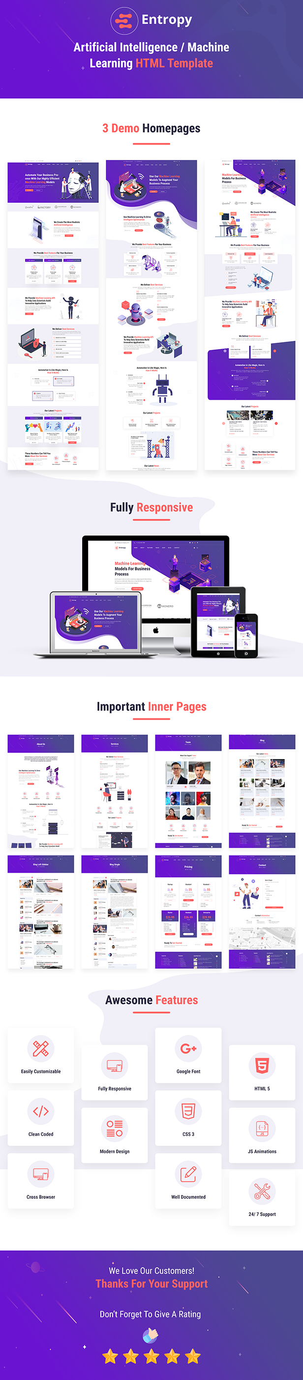 Entropy - Machine Learning & AI Startups HTML Template - 1
